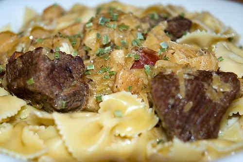 Photo of Beef in Sauerkraut over Pasta