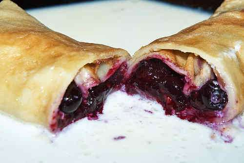 Photo of Pancake with Blueberry Filling