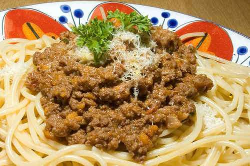 Photo of Bolognese Meat Sauce and Spaghetti