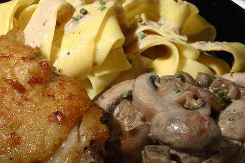 Photo of Chicken with Mushrooms in Marsala Cream Sauce