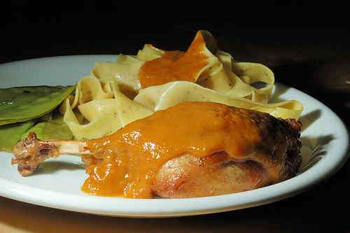 Photo of Duck Leg with Apricot Sauce