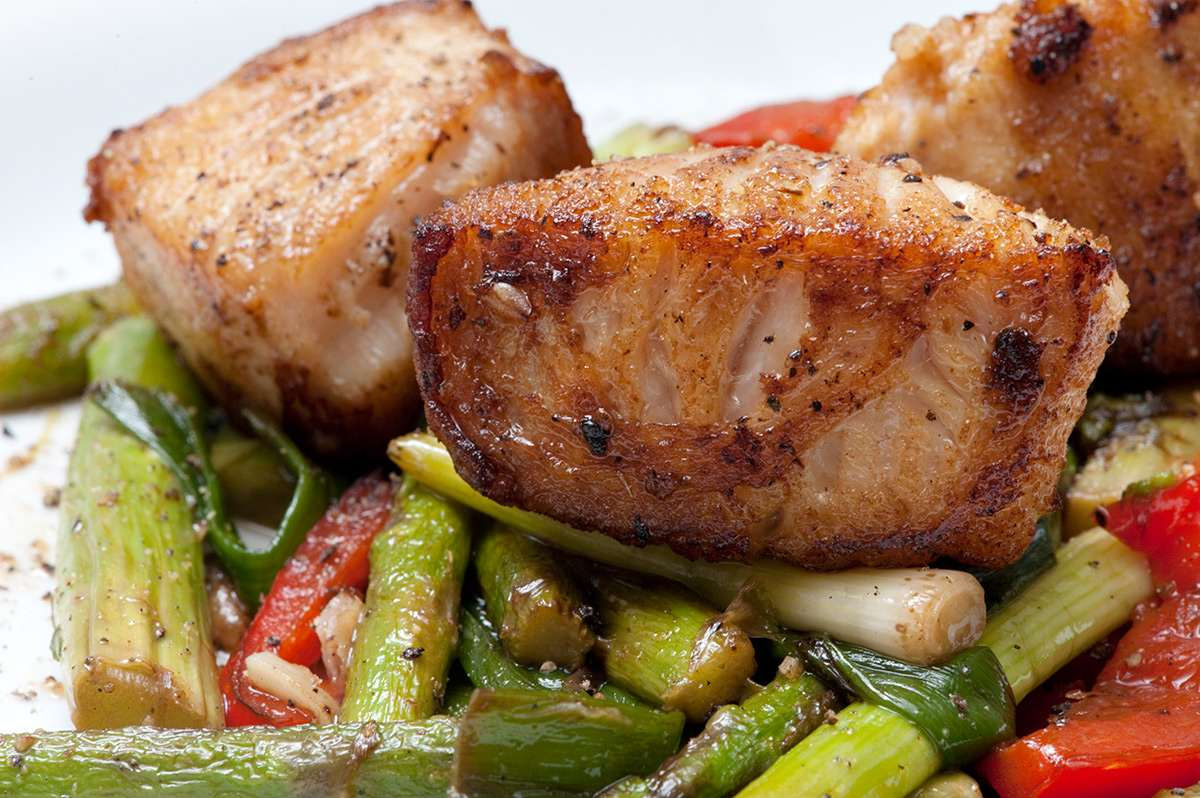 Stir fry of fish and vegetables steffen 39 s dinners for Fish and vegetable recipes