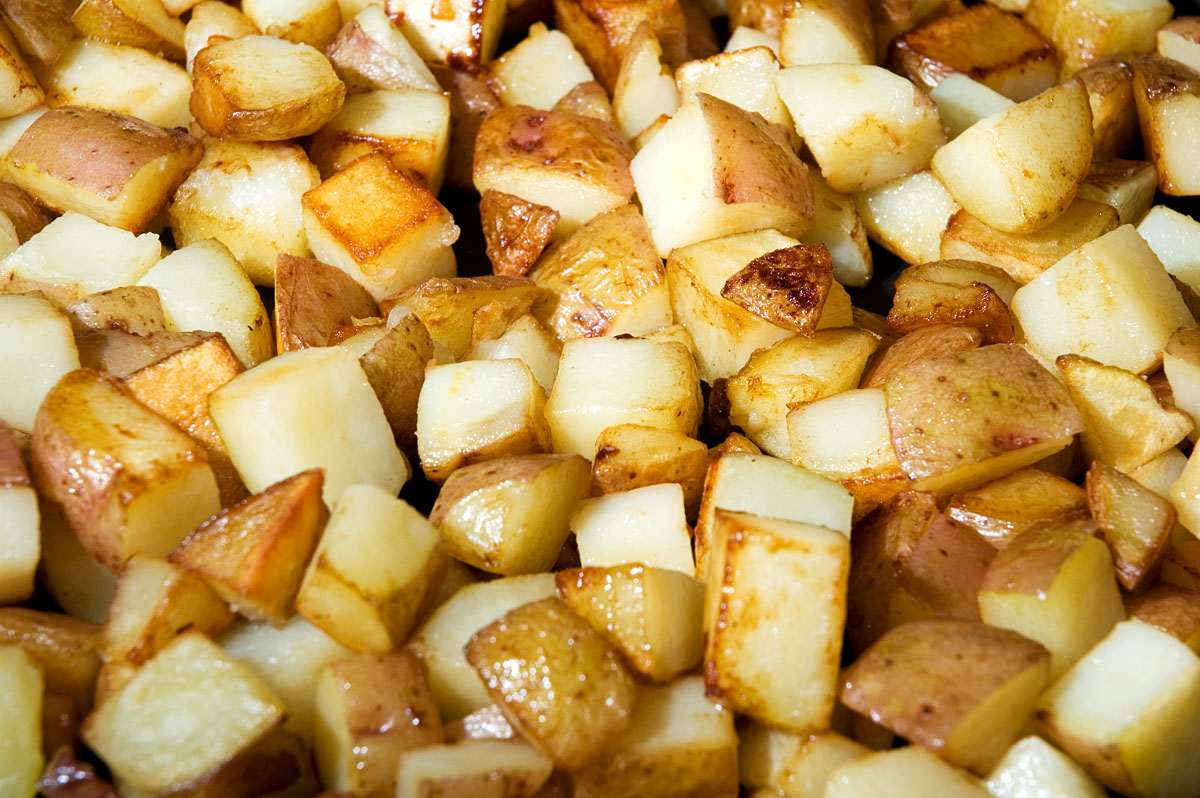 frying - The secret to hash browns / home fries / breakfast potatoes ...