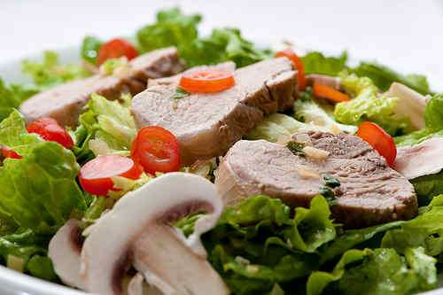 Photo of Pork Tenderloin on a Mint, Ginger and Garlic Salad
