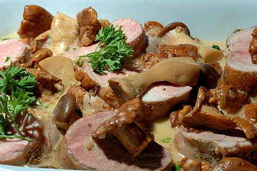 Photo of Pork Tenderloin with Chantrelles in Cream Sauce