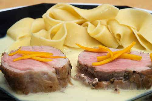 Photo of Pork Tenderloin in Orange and Saffron Sauce