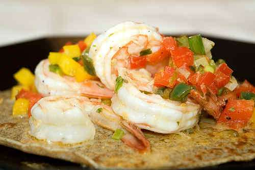 Photo of Exotic Shrimp Salad on Buckwheat Crepes