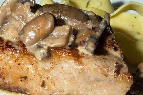 Photo of Steaks with Mushrooms