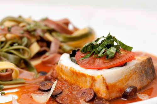 Photo of Swordfish in Tomato Sauce with Basil and Olives