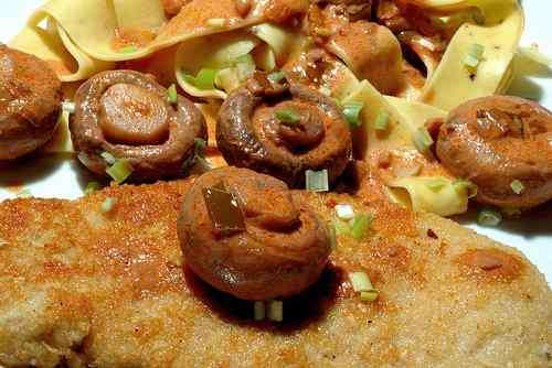 Photo of Pork Tenderloin Cutlet with Mushrooms