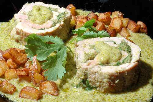Photo of Stuffed Pork Tenderloin in Coconut-Chili Sauce