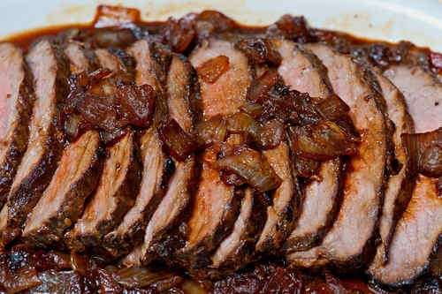 Photo of Marinated Tri-tip Roast in Caramelized Onion Sauce
